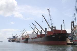 Portos movimentaram 45,5 mi de toneladas em 2014