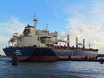 Navio Sofia encalha em Paranaguá