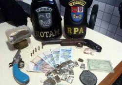 PM de Paranaguá apreende drogas e arma