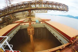 Porto Paranaguá reduz tempo de carregamento de grãos